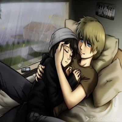 Dos enamorados abrazados