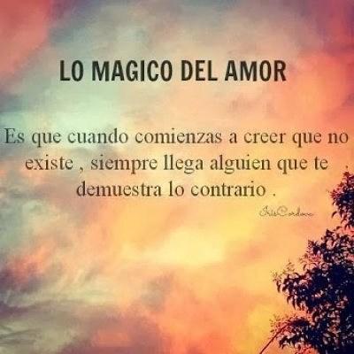 Lo mágico del amor