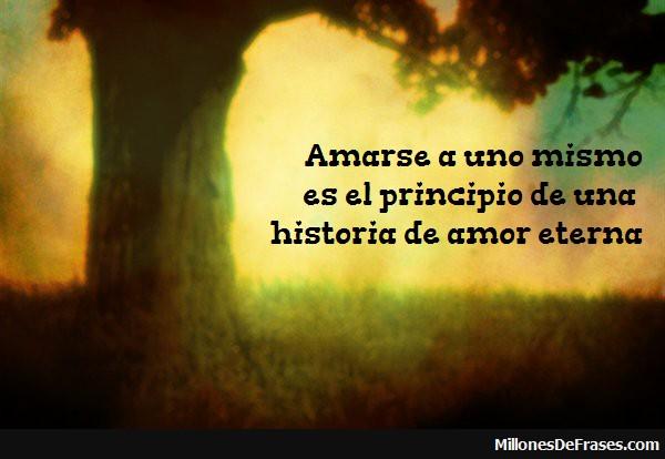 amarse es el principio de una historia de amor