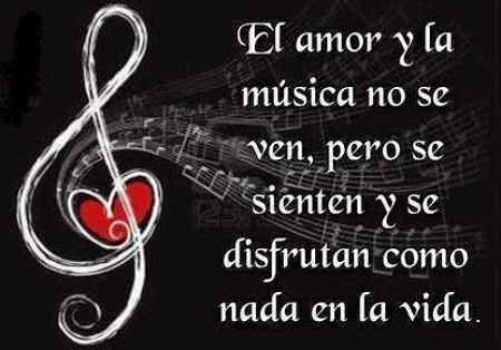 el amor a la musica es