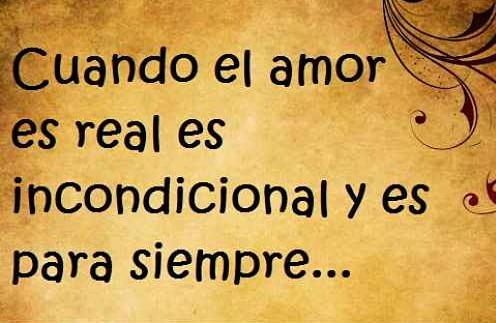 El amor es incondicional