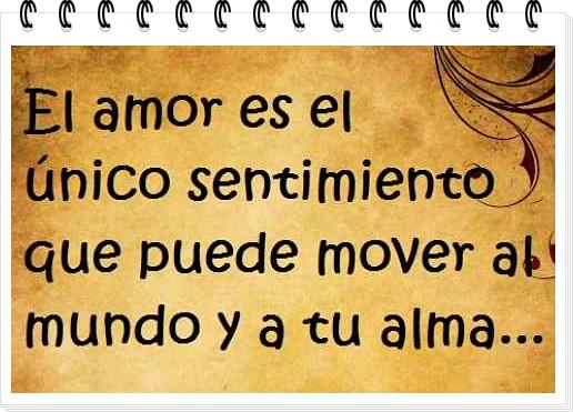 El amor puede mover el mundo