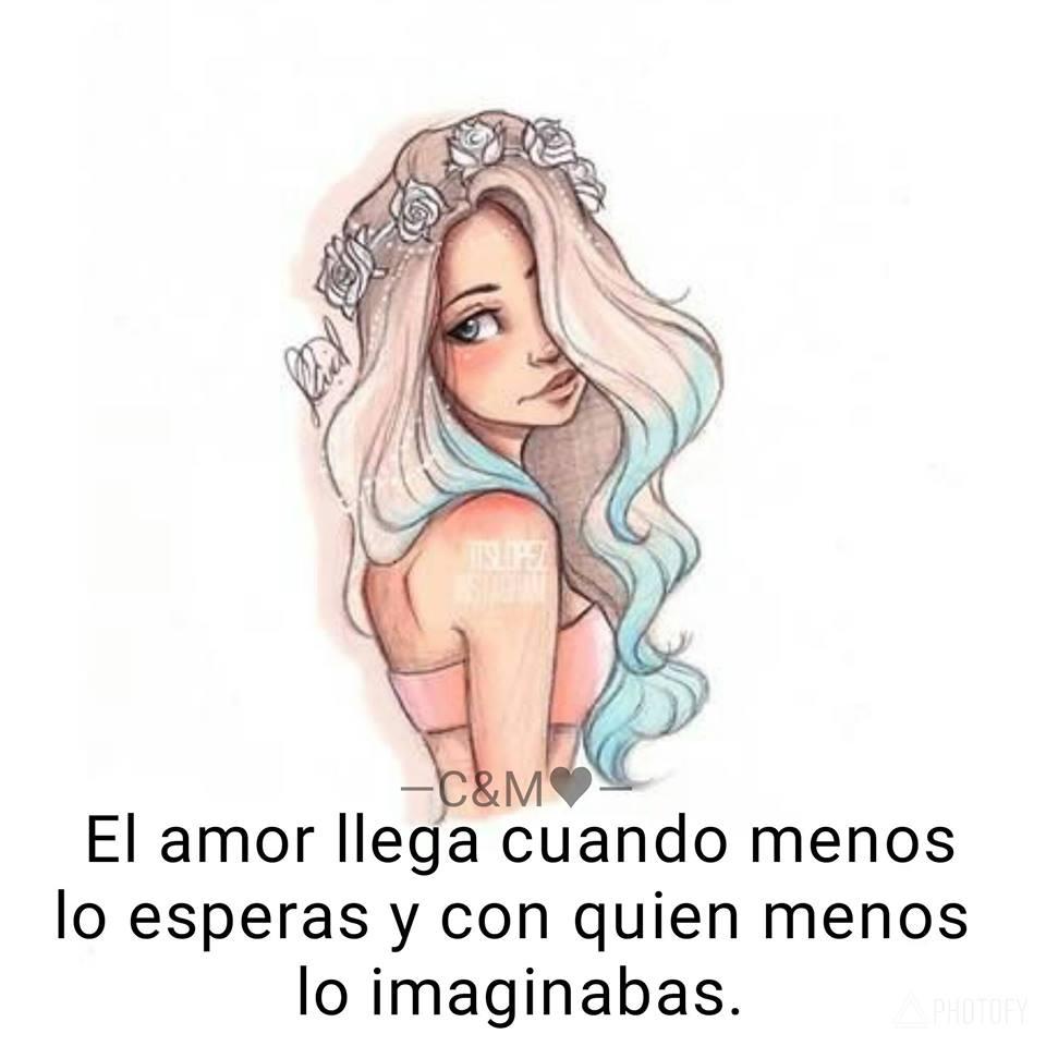 El amor llega cuando menos lo esperas y con quien menos lo imaginabas