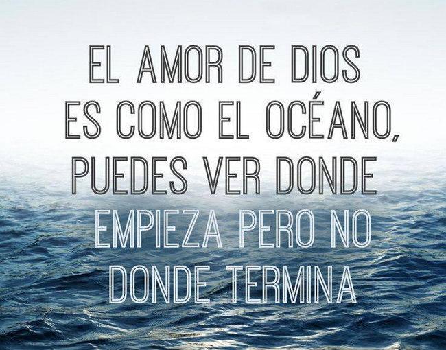 El amor de dios es como el oceano