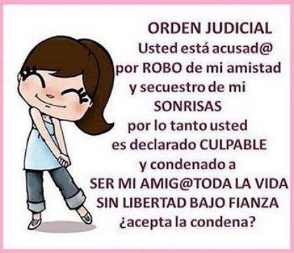 Imagenes para amigas orden judicial