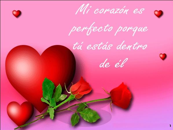 Descargar frases de amor con rosas y corazones bonitas