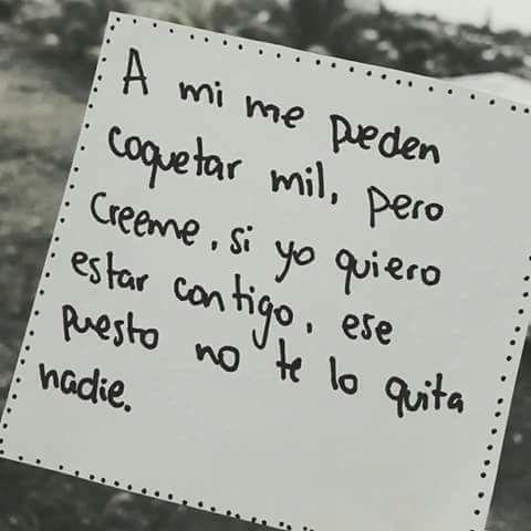 Frase quiero estar contigo