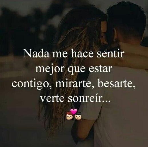 Nada me hace sentir mas especial que besarte